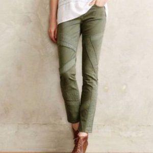 Anthropologie Pilcro Stet Green Moto Pants Size 29